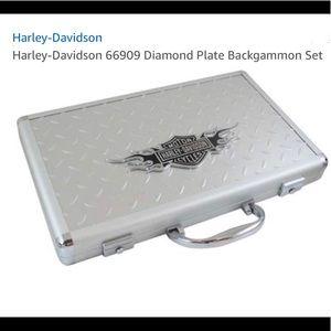 Harley Davidson Backgammon Set Diamond Plate